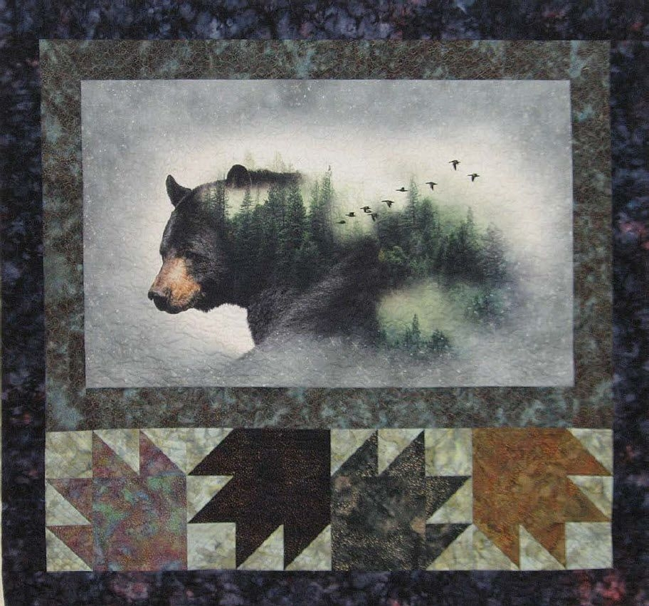 call of the wild free quilt pattern hoffman fabrics bear Unique Wildlife Quilt Fabric Panels Inspiration Inspirations