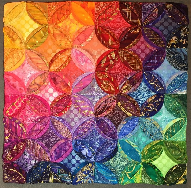 cathedral window color play 16 x 16 lisa ellis quilt Elegant Cathedral Window Quilt Pattern