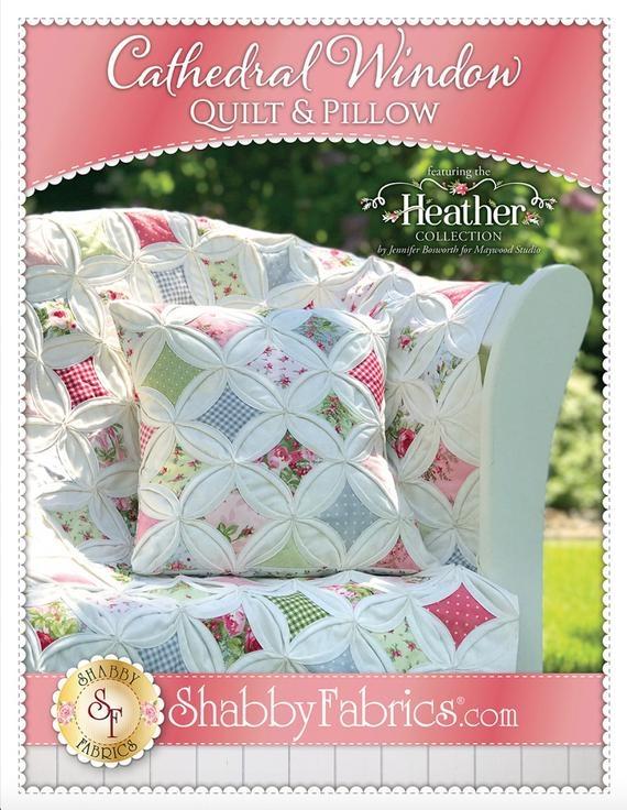 cathedral window quilt pillow pattern jennifer bosworth shab fabrics precut friendly 36x54 gift Elegant Cathedral Window Quilt Pattern