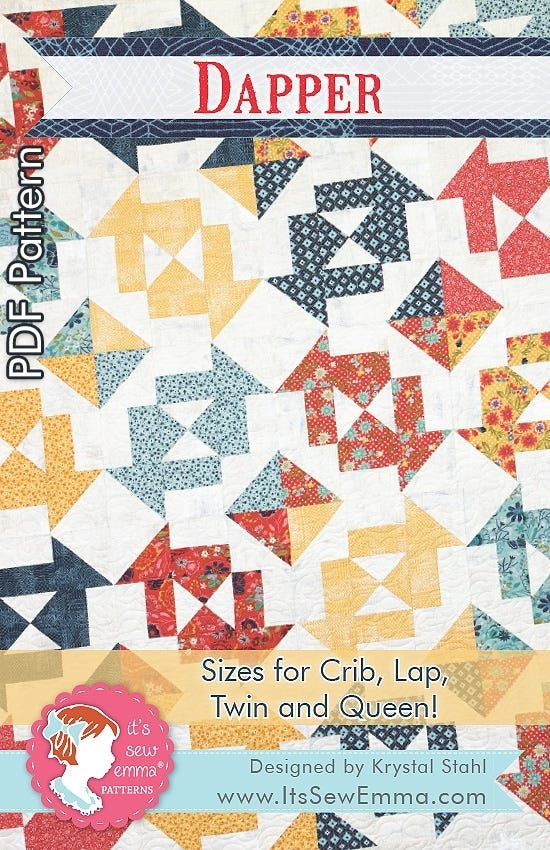 dapper downloadable pdf quilt pattern its sew emma Modern Downloadable Quilt Patterns Inspirations