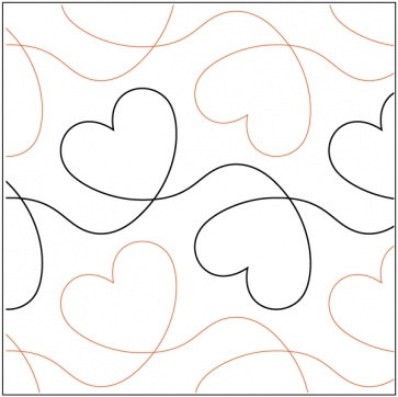 dear heart pantograph Cozy Pantograph Quilt Patterns