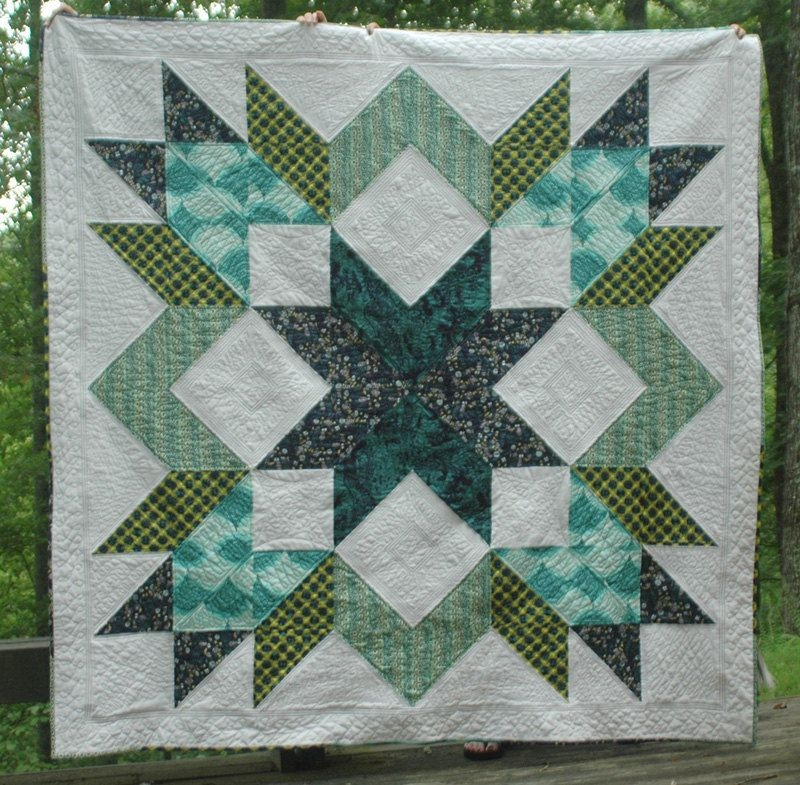 designer star quilt pattern pdf 800 via etsy quilting Cool Designing Quilt Patterns Gallery