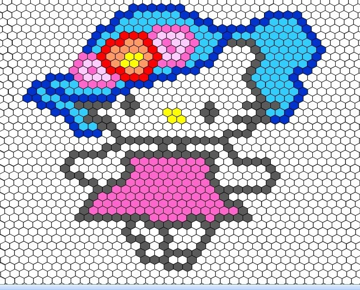 hello kitty hexagon quilt quilt patterns miniature quilts Hello Kitty Quilt Block Patterns Gallery