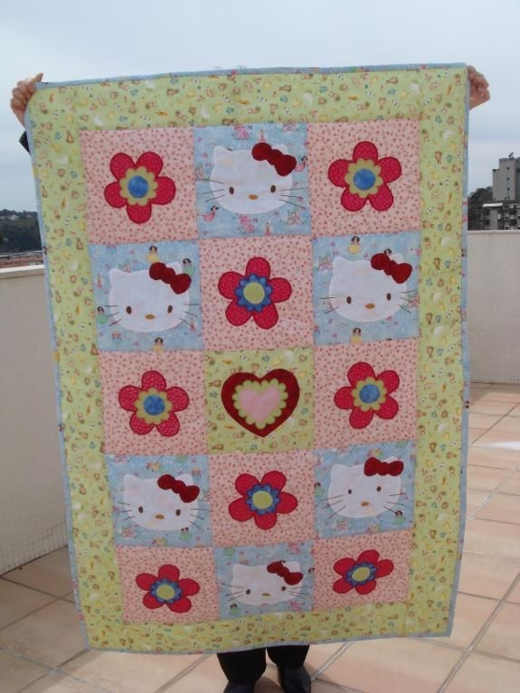 hello kitty quiltso totally use this right now lol Hello Kitty Quilt Block Patterns Gallery