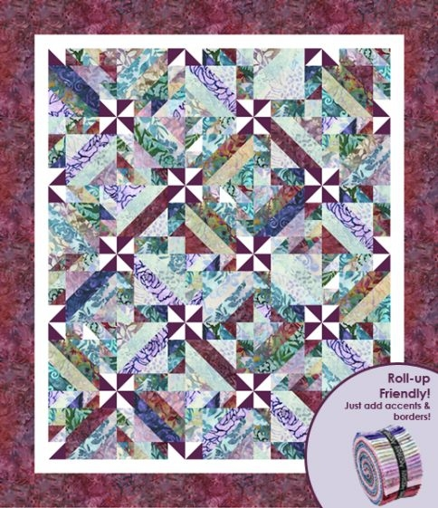 intertwined designer pattern robert kaufman fabric company Elegant Intertwined Quilt Pattern Gallery