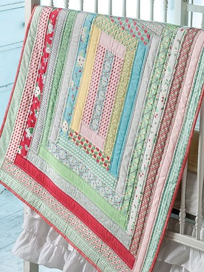 jelly roll strips make this ba quilt a quick finish Interesting Quilt Patterns For Jelly Roll Strips