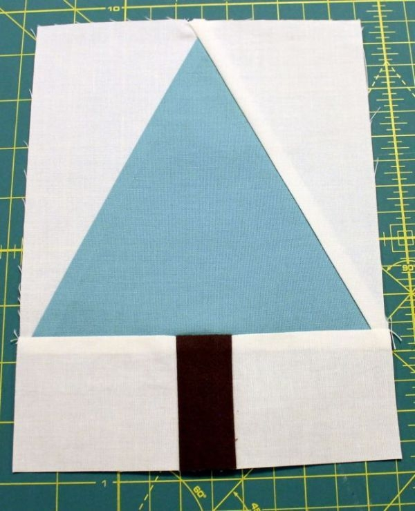 make a triangle in a square quilt block using quilting Elegant Triangle In A Square Quilt Block