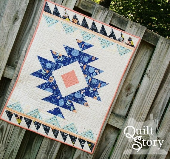 pdf quilt pattern modern quilt aztec quilt pattern urban Modern Downloadable Quilt Patterns Inspirations