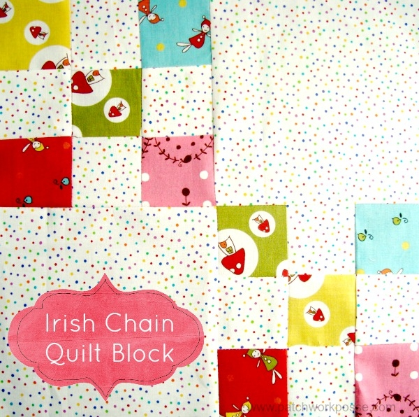 single irish chain quilt block tutorial patchwork posse Cool Single Irish Chain Quilt Pattern Gallery
