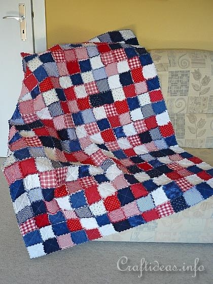 summer sewing project rag quilt americana Americana Quilt Patterns Gallery