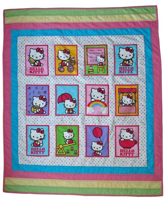 toddler ba hello kitty quilt with 12 pictures of a Hello Kitty Quilt Block Patterns Gallery