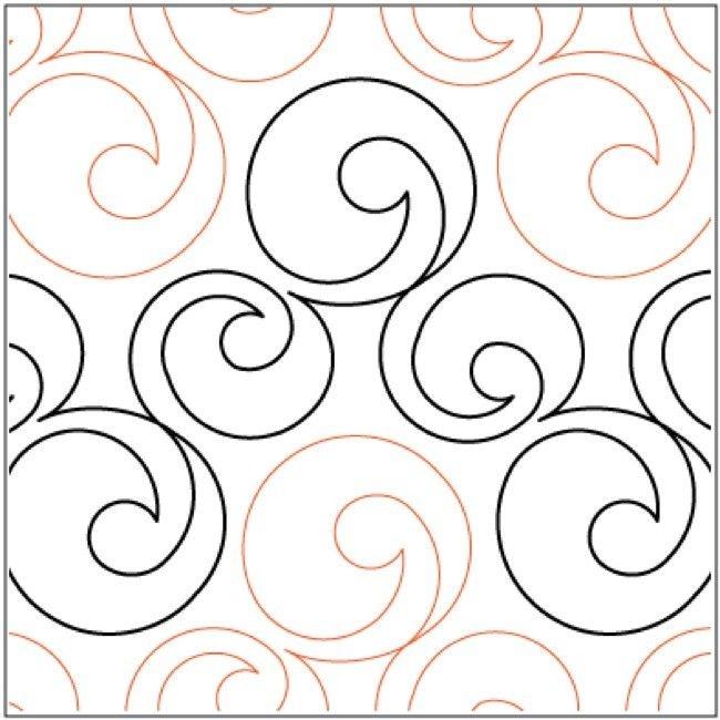 want bubbles pantograph free motion quilting machine Cozy Pantograph Quilt Patterns