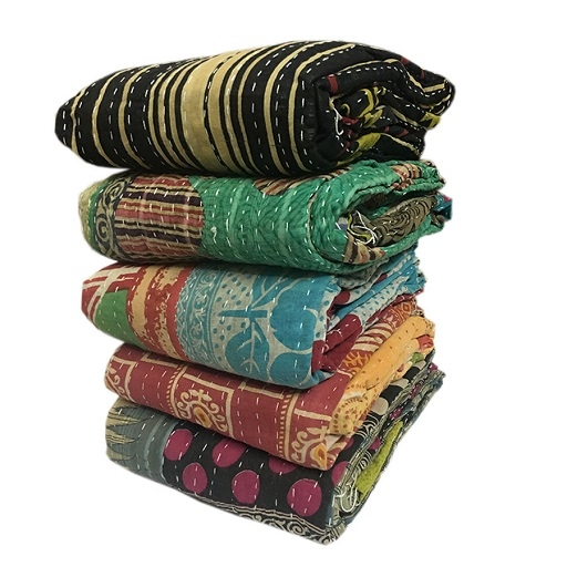 wholesale lot of 5 vintage kantha quilts Stylish Vintage Kantha Quilts Wholesale Gallery