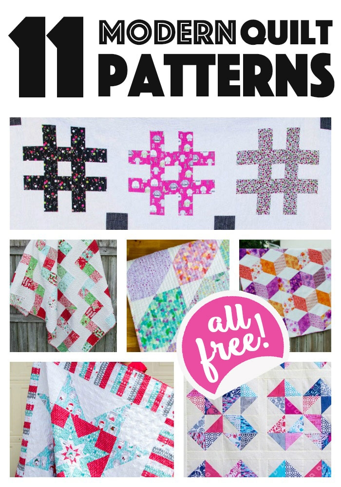 11 modern quilt patterns for you to sew all easy and free Unique Contemporary Quilts Patterns Inspirations