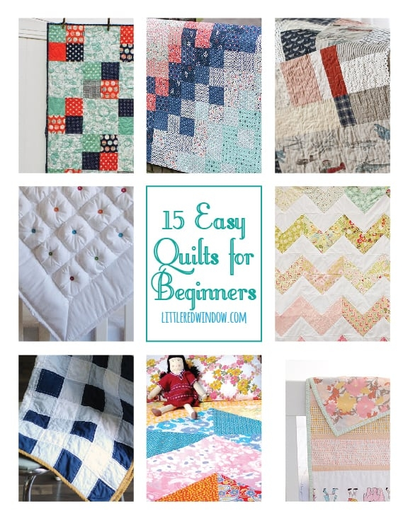 15 easy quilts for beginners little red window Modern Quilts For Beginners Quilt Patterns Inspirations