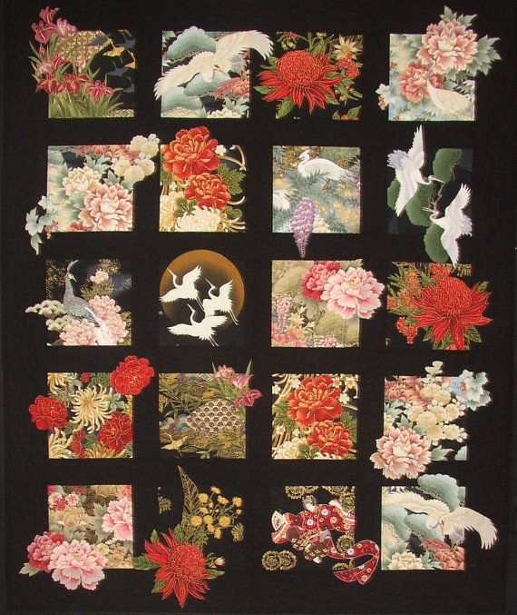20 asian blocks plus quilt pattern great for large scale Interesting Japanese Quilts Patterns Inspirations
