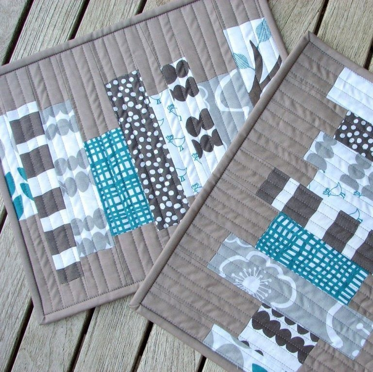 30 beautiful quilted placemats the funky stitch Stylish Modern Quilted Placemat