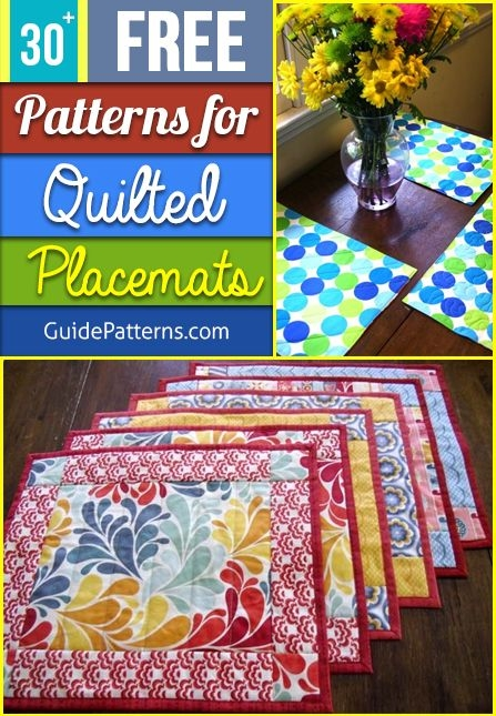30 free patterns for quilted placemats guide patterns Unique Quilted Placemats Patterns Inspirations