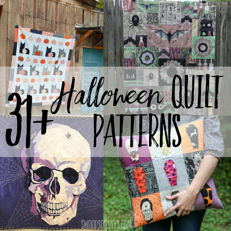 31 modern halloween quilts swoodson says Cool Halloween Quilts Patterns Inspirations