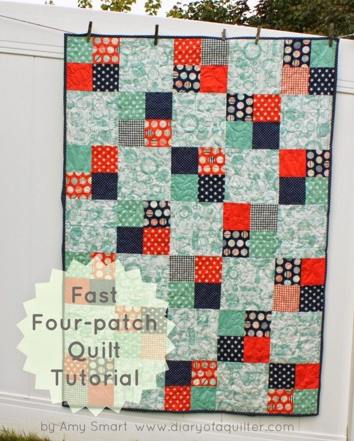 45 easy beginner quilt patterns and free tutorials Modern Simple Patchwork Quilt Patterns Gallery