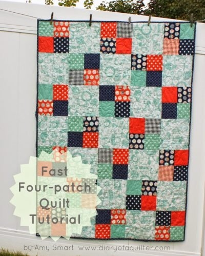 45 easy beginner quilt patterns and free tutorials polka Elegant Patchwork Quilt Patterns For Beginners Inspirations