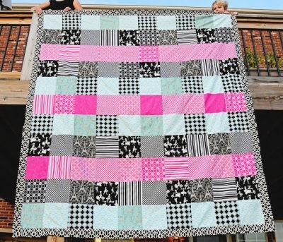 45 easy beginner quilt patterns and free tutorials polka Unique Queen Size Quilt Patterns Inspirations