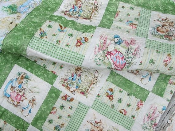 ba quilts ba quilt peter rabbit jemima puddleduck mrs Cozy Peter Rabbit Quilt Pattern Inspirations
