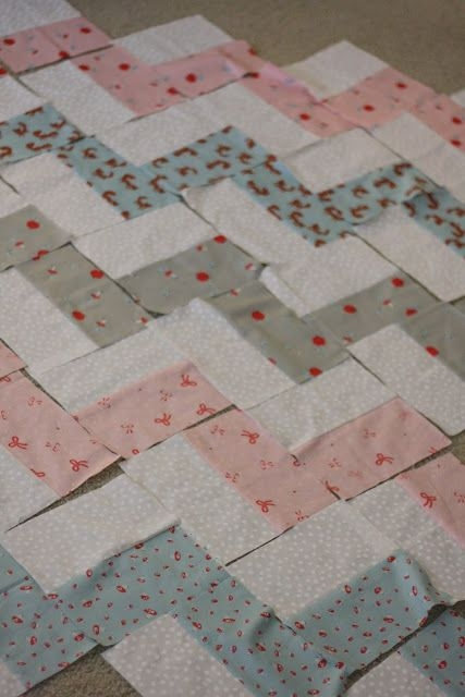 chevron ba quilt like the idea of sewing scrappy Elegant Chevron Quilt Pattern Using Rectangles