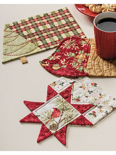 christmas mug rug set pattern Modern Quilted Mug Rugs Patterns