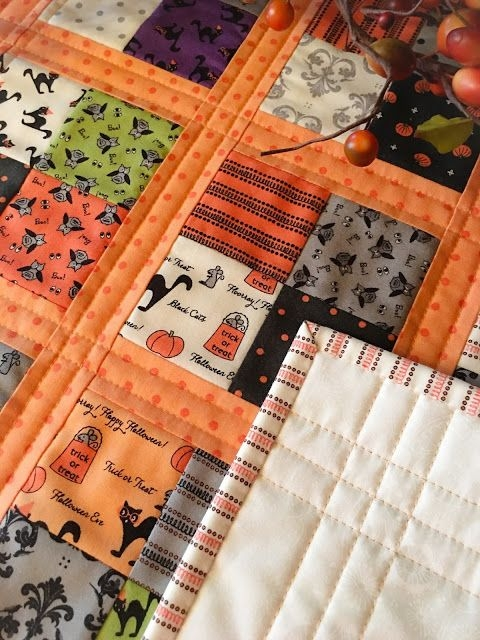 coffee time quilt for halloween halloween quilt patterns Cool Halloween Quilts Patterns Inspirations