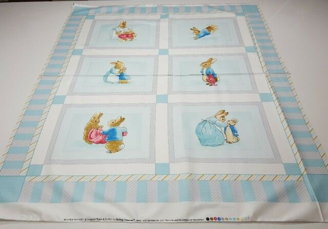 cotton tale panel 35x42 beatrix potter quilting treasures peter rabbit bolt end Cozy Peter Rabbit Quilt Pattern Inspirations