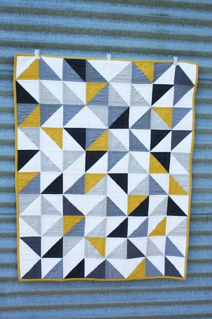 craftyblossom a quilt for harry triangle quilt triangle Cool Quilts With Triangles