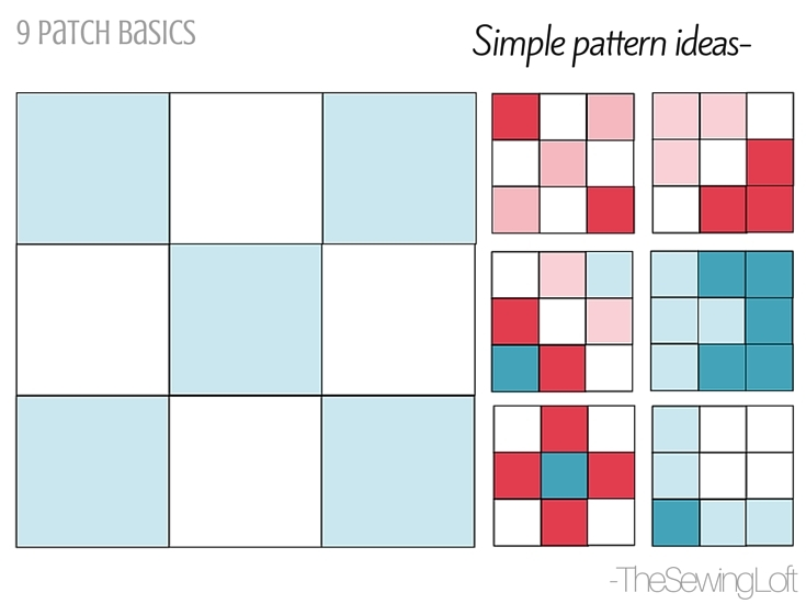 disappearing 9 patch quilt block the sewing loft Nine Block Quilt Pattern Inspirations
