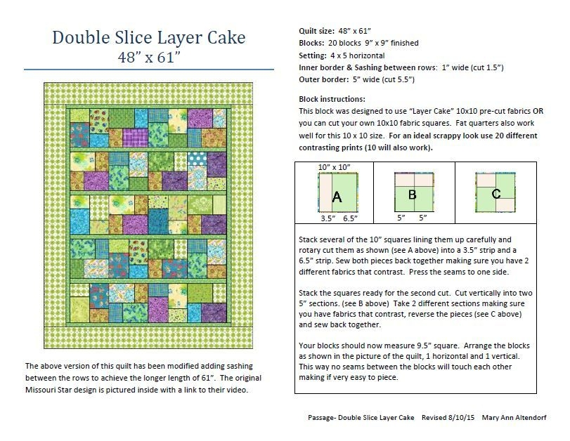 double slice layer cake quilt pattern for st vincent Piece Of Cake Quilt Pattern Inspirations