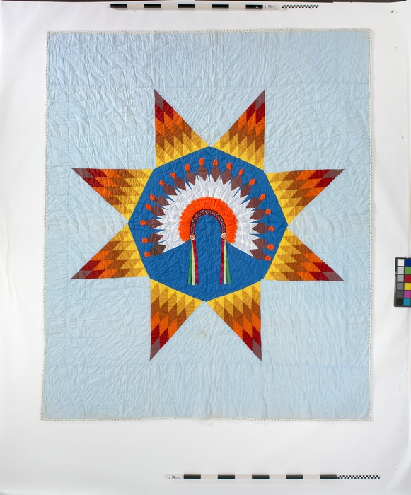 ehumanity cultural item Unique Indian War Bonnet Quilt Pattern Inspirations