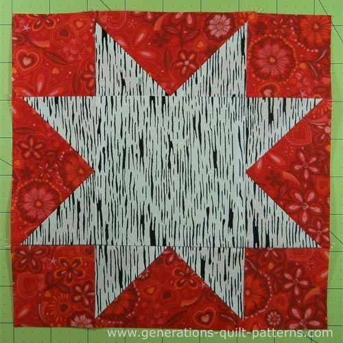 evening star quilt block tutorial 4 6 8 10 and 12 Cool 10 Inch Quilt Block Patterns