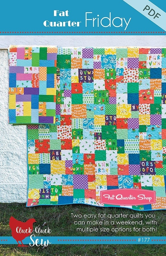 fat quarter friday downloadable pdf quilt pattern cluck cluck sew Fat Quarters Quilt Patterns Inspirations