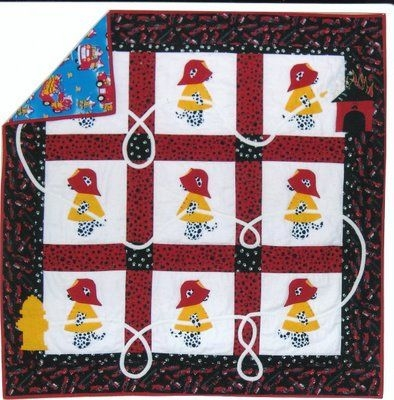 firefighter quilt patterne patches quilt works fire house Cool Firefighter Quilt Patterns