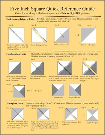 five inch square reference guide a quick reference guide Modern 5 Inch Quilt Block Patterns Gallery