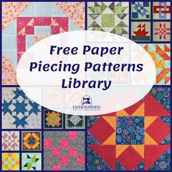 free paper piecing patterns library generations quilt patterns Interesting Foundation Pieced Quilt Patterns Inspirations