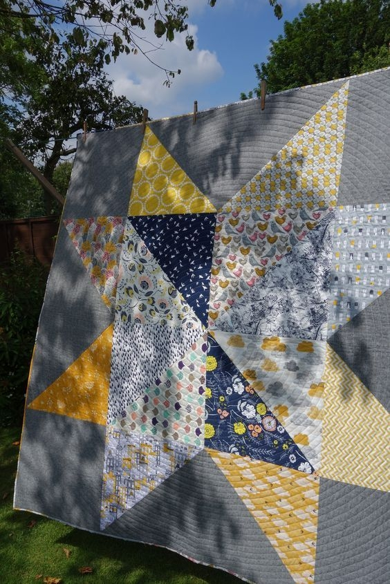 giant vintage star quilt tutorial quilts big block quilts Stylish Giant Vintage Star Quilt Gallery