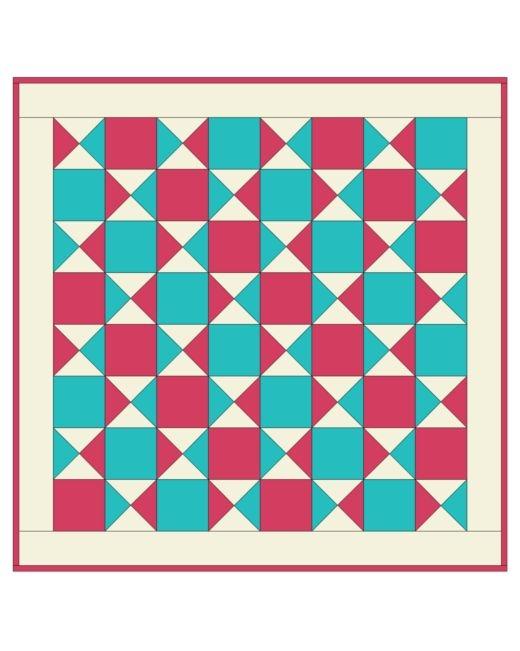 go quarter square triangle ba quilt pattern accuquilt Quarter Square Triangle Quilt Pattern