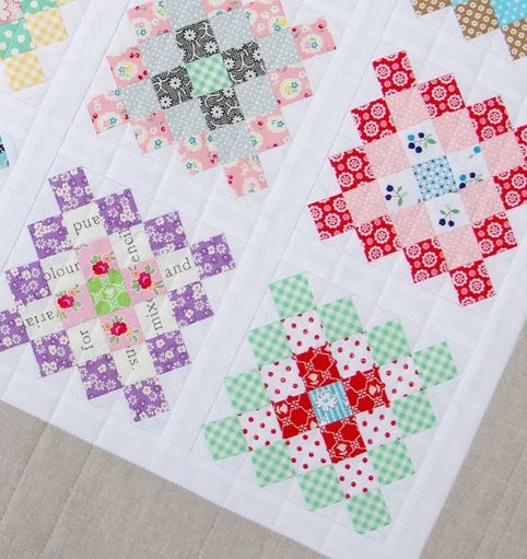 granny square quilt block tutorial block of the month 2 Granny Square Quilt Block Pattern Gallery