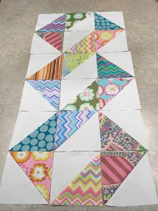 great design for half square triangles triangle quilt Cool Quilts With Triangles
