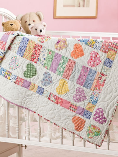 hearts a flutter ba quilt pattern Elegant Applique Quilt Patterns For Babies