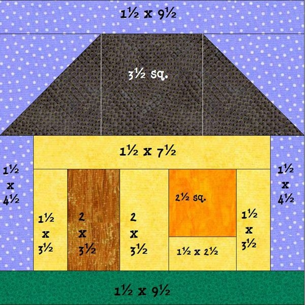 house pattern block tutorial house quilts house quilt Interesting House Quilt Block Tutorial Inspirations