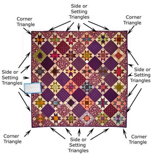 how to cut setting triangles for on point quilt layouts Stylish Setting Triangles For On Point Quilts Gallery