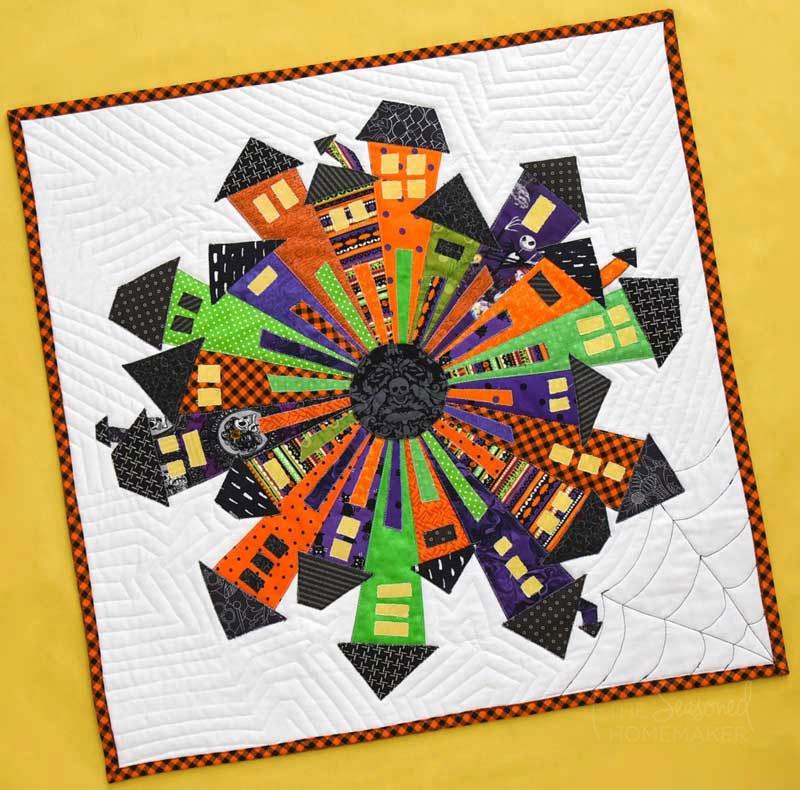 how to make a halloween dresden neighborhood mini quilt Cool Halloween Quilts Patterns Inspirations