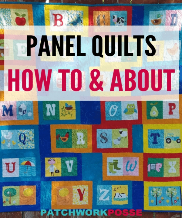 how to make a quilt with fabric panels patchwork posse Cozy Quilt Patterns Using Fabric Panels Gallery
