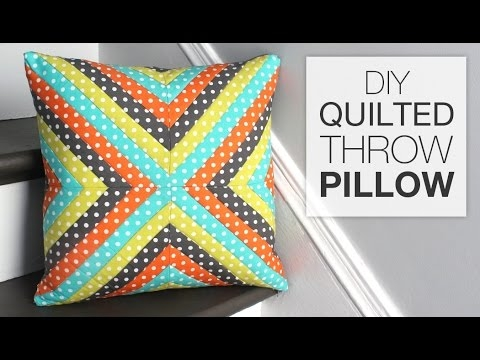 how to make a quilted throw pillow Cool Quilting Pillow Patterns Gallery